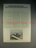 1965 Chris-Craft Sea Skiff 35' Sea Hawk Boat Ad!