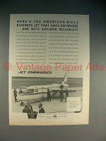 1965 Aero Jet Commander Plane Ad - Goes Anywhere