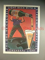 1990 Lowenbrau Light Beer Ad - Strong Character!