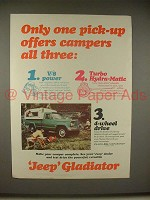 1965 Jeep Gladiator Pickup Truck Ad - Offers Campers