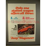 1965 Jeep Wagoneer Ad - Only One Offers All Three!