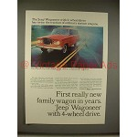 1965 Jeep Wagoneer Ad - First New Wagon in Years!