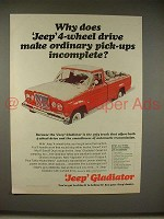 1965 Jeep Gladiator Pickup Truck Ad - Make Incomplete!
