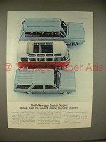 1965 Volkswagen VW Bus Station Wagon Ad - Bigger