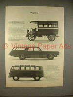 1965 Volkswagen VW Bus Station Wagon Ad - Progress