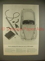 1965 Volkswagen VW Bug Beetle Car Ad - Missing a Lot