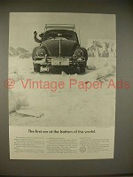 1965 Volkswagen VW Bug Beetle Car Ad - Bottom of World