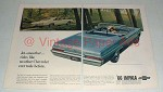 1966 Chevrolet Impala Convertible, Sport Coupe Car Ad