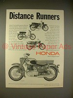 1966 Honda Touring 305, 160, 90, Sport 65 Motorcycle Ad