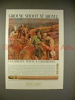 1966 Gold Label Cedaroma Cigar Ad - Grouse Shoot Argyll