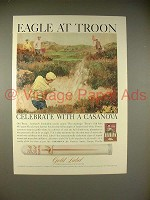 1966 Gold Label Casanova Cigar Ad - Eagle at Troon