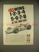 1966 STP Oil Ad w/ Graham Hill - Wins 1-2-3-4-5-6-7-8