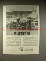 1966 Beechcraft Queen Air 80 Plane Ad - Milestone