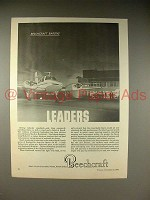 1966 Beechcraft Baron Plane Ad - Leaders!