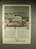 1966 Beechcraft King Air Plane Ad - Record Breaker