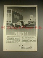 1966 Beechcraft Queen Air 65 Plane Ad - Pioneer