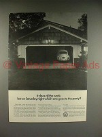 1966 Volkswagen VW Bug Beetle Car Ad - Goes to Party