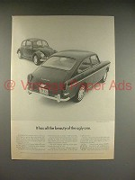 1966 Volkswagen VW Bug, Beetle, Fastback Car Ad!