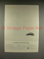 1966 Volkswagen VW Bug, Beetle Car Ad - House Bigger