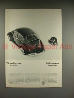 1966 Volkswagen VW Bug, Beetle Car Ad - Made Car Faster