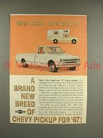 1967 Chevy Pickup Truck Ad - New Look, New Build