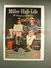 1967 Miller High Life Beer Ad - Champagne of Beer
