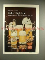 1967 Miller High Life Beer Ad - Sparkling, Flavorful