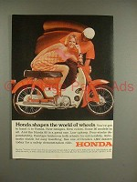 1967 Honda 90 Motorcycle Ad - Shapes World of Wheels