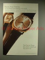 1967 Timex Electric Watch Ad - Run On Their Own Energy