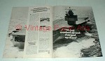 1967 Newport News Ad w/ Nuclear Carrier, Enterprise