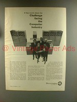 1967 Burroughs 500 Computer Ad - Challenge Facing