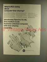 1967 RCA Spectra 70 Computer Ad - Time-Sharing