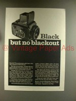 1967 Bronica S2 Camera Ad - Black but no Blackout
