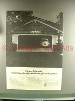 1967 Volkswagen VW Bug, Beetle Car Ad - Goes to Party