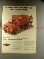 1967 Chevy 96-Inch Truck Ad - Plain Old Horse Sense