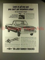 1968 Chevrolet Chevy Pickup Truck Ad - All You Get!