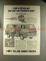 1968 Chevrolet Chevy-Van Truck Ad - All You Get!