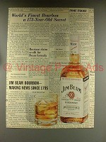 1968 Jim Beam Bourbon Whiskey Ad - 173 Year Old Secret