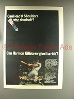 1968 Head & Shoulders Shampoo Ad w/ Harmon Killebrew