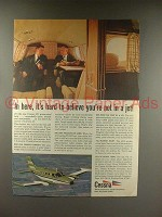 1968 Cessna 421 Plane Ad - Hard to Believe Not a Jet