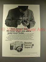 1968 Beseler Topcon Super D Camera Ad - Waist Level