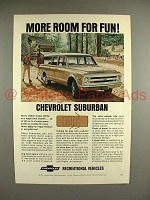 1968 Chevrolet Suburban Truck Ad - More Room for Fun
