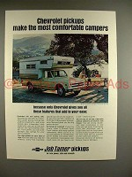 1968 Chevy 3/4-ton Camper Fleetside Pickup Truck Ad