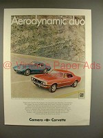 1968 Chevy Camaro SS Sport Coupe, Corvette Sting Ray Ad