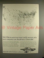 1968 Chevrolet Car Ad - 6,400 Reasons Why