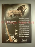 1969 Weatherby Mark V Magnum Rifle Ad - Lion