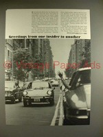 1969 Porsche Car Ad - Greetings from One Insider