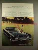 1970 Lincoln Continental Car Ad - Size, Spaciousness