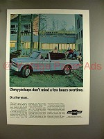 1969 Chevrolet Pickup Truck Ad - Don't Mind Overtime