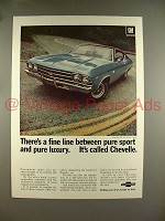 1969 Chevrolet Chevelle SS 396 Sport Coupe Car Ad - A Fine Line